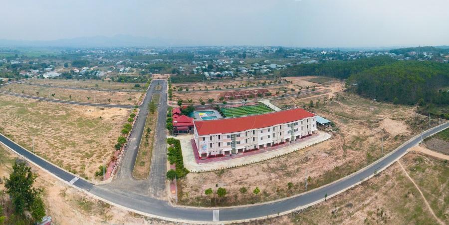 toàn cảnh dự án kđt Hoàng Thành Kon Tum nhìn từ trên cao.