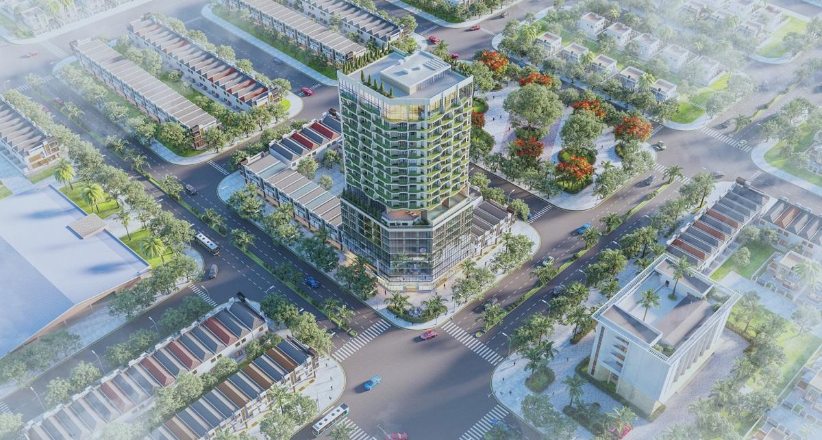 Ảnh: Phối cảnh dự án căn hộ The Light Phú Yên – Dự án căn hộ cao cấp 4* sổ đỏ sở hữu vĩnh viễn đầu tiên tại Phú Yên đang rất thu hút khách quan tâm hiện tại.